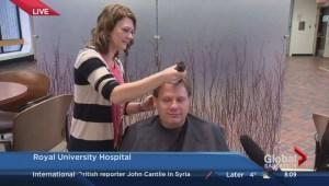 Saskatoon man shaves head for breast cancer