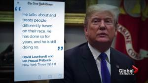 President Trump responds to outcry: 'I am not a racist'