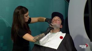 Shaving clean for the start of Movember in Edmonton