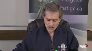 Presser: TSB begins investigation into Leviathan II sinking