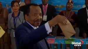 Cameroon president Biya wins re-election in landslide victory