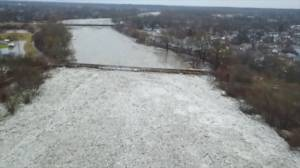 Drone footage shows devastation of Brantford, Ont. flooding