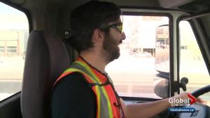 Edmonton snowplow driver talks about his job after recent storm