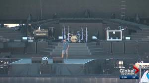 A look inside what it takes to prepare a stadium for a Guns N' Roses concert (01:46)