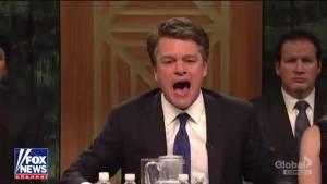 'I'm a keg half full kind of guy': Matt Damon takes on Kavanaugh's hot seat in SNL cold open (12:54)