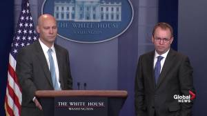 White House asked about Trump claim that U.S. needs 'a good shutdown'