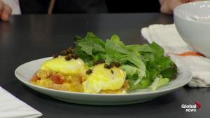 Café Linnea makes Eggs Benedict in the Global Edmonton kitchen (3/3)