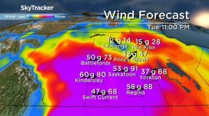 Saskatoon weather outlook: major wind storm moves in, 110 km/h gusts possible