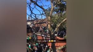 Video shows moment of St. Patrick's Day roof collapse in Kingston