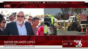Sweetwater mayor 'shocked' by news of Florida bridge collapse