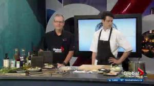 Edmonton chef cooks fish dish