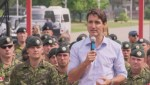 Prime Minister Trudeau addresses Canadian troops stationed in Latvia