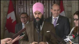 'Our thoughts and prayers are with Dominic LeBlanc': Jagmeet Singh