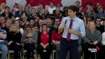 Trudeau asked what it feels like to be the first PM to 'commit a crime'