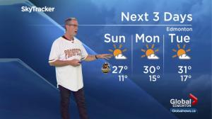 Edmonton weather forecast: Saturday, July 14, 2018