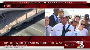 Firefighters confirm reports of workers on bridge at time of collapse