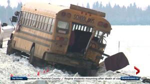 Teen killed in school bus crash north of Edmonton