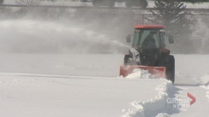 City of Calgary begins to remove snow covering Shouldice artificial turf fields