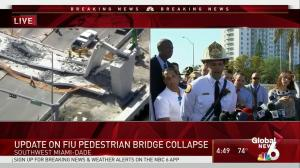 Firefighters concerned about stability of portion of collapsed bridge at Florida International University