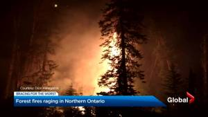 Northern Ontario wildfires continue to burn