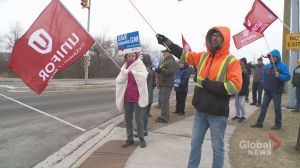 Whitby auto workers walk off the job, protest Oshawa GM plant closure