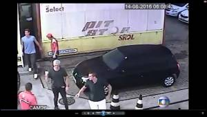 CCTV video shows US swimmers at Rio gas station