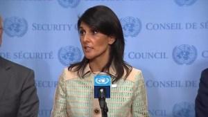 U.S. Ambassador Nikki Haley vows to 'call out' countries backing North Korea