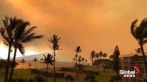 Smoke from wildfire turns Maui sky orange