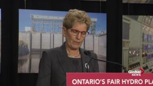 Kathleen Wynne says shift from coal power part of rising hydro costs