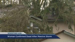 Woman confirmed dead after massive windstorm