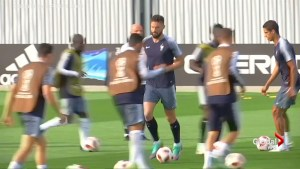 France, Croatia train ahead of World Cup Final