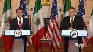 Mike Pompeo and Mexico's Foreign Minister talk NAFTA, migrants