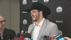Alex Singleton talks about Calgary Stampeders' western attire for the Grey Cup