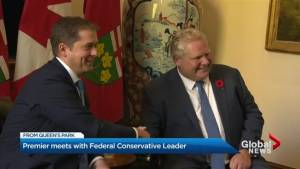 Andrew Scheer,  Doug Ford meet at Queen's Park