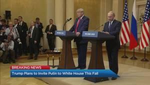 Trump plans to invite Putin to White House this fall