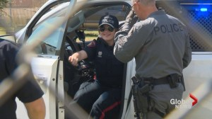 Calgary teen with serious medical condition has 'dream come true' as police officer for a day