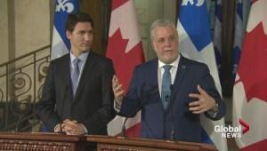 Trudeau, Couillard discuss Syrian refugees