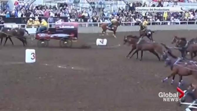 Chuckwagon Driver In Good Spirits After Injury In Race At