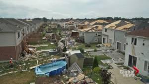Angus tornado aftermath