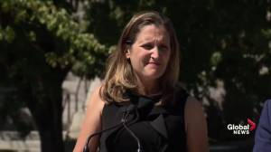 Freeland says questions on armoured vehicle deal are for Saudi Arabia
