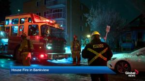 House fire in Calgary community of Bankview