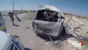 Syrian NGO says airstrike hit one of their ambulances