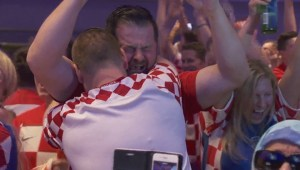 Emotional fans celebrate Croatia's win in World Cup semifinals