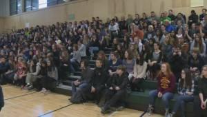 """B.C. Lions tackle """"locker-room talk"""" in anti-violence initiative at Okanagan schools"""