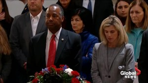 Ben Carson pays respect to late former President George H.W. Bush in the Capitol Rotunda