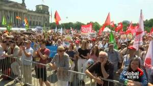 March in support of far-right group in Germany met with protests