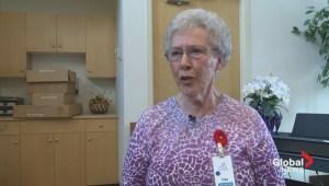 Senior woman entertains Alberta seniors