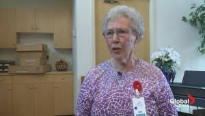 Senior woman entertains Alberta seniors