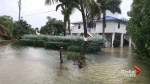 Storm surges from Hurricane Irma causing street flooding in Key Largo, Fla.