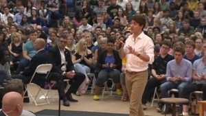 Trudeau speaks on tax changes, immigration during packed Kelowna town hall